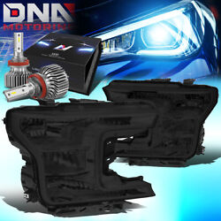 For 2018-2020 Ford F150 Pickup Truck Oe Style Headlight W/led Slim Style Smoked