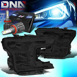 For 2018-2020 Ford F150 Pickup Truck Oe Style Headlight W/led Kit+ Fan Smoked
