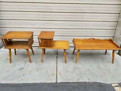 Mid Century Modern, Three Piece Coffee And End Tables, Lane Style. Great Condition