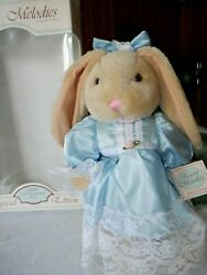 Anco Rabbit Bunny Doll Easter Melodies Plush Spring Adorable Jointed Mib 15