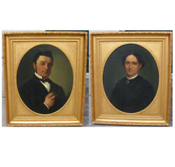 Valdemar Kornerup. Large Pair Of Portraits. Aggersvold Manor House. Dated 1908.