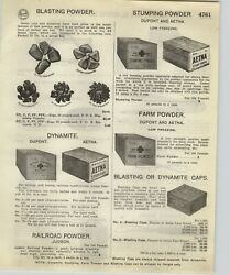 1918 Paper Ad Dupont Aetna Wooden Box Dynamite Red Cross Blasting Machine