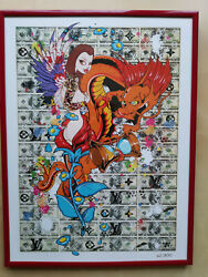 Louis Vuitton Pin Up Dragon Princes - Fine Art Print | Din A3 Poster Op 490eur
