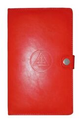 Hall Royal Arch Ritual Book Cover In Faux Leather Triple Tau And Lock Snap