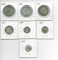 Newfoundland Canada Coin Lot Collection Silver 2 Fv Not Scrap Key Dates Look