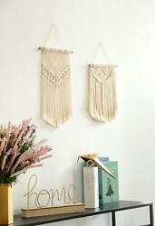 NEW Macrame Wall Hanging Woven Tapestry Wall Art Boho Chic Home Decor Apartment
