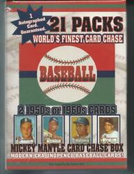 1952 MANTLE CARD CHASE BOX 21 PACKS AUTOGRAPH CARD 2 1950 60#x27;S CARDS $64.00