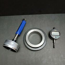 Mitutoyo Digital Indicator 543-392b And Diatest 75mm Bore Gage And Ring Machinist