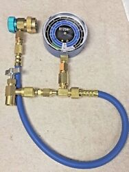 R1234yf Can Taper Kit Check And Charge-it Gauge Hose And Low-side Manual Coupler