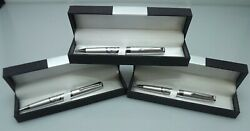 Three Blue Lodge Pens Quality Heavy Weight Masonic Fandam Officer Gifts Silver