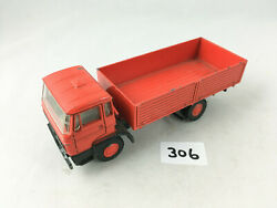 Very Rare Vintage Lion Toys Holland 43 Daf Covered Truck Red Diecast 1970s