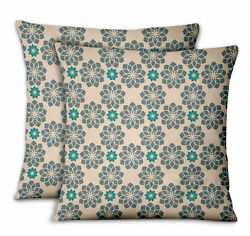 S4Sassy Artistic Flower Decorative Cushion Cover Cases for Sofa Bed 2Pcs-MD-501N