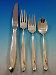 Silver Sculpture By Reed And Barton Sterling Silver Flatware Set Service 32 Pcs
