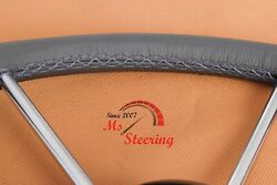 For Cs 36 Dia 40and039and039- 44and039and039 Leather Steering Wheel Cover Diff Colors