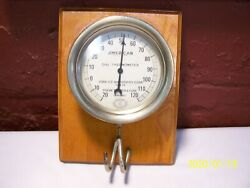 Antique Schaeffer And Budenberg American Dial Thermometer York Ice Machinery Corp