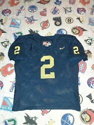 1998 Charles Woodson Nike Game Cut Authentic Michigan Wolverines Jersey Vintage