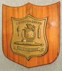 Uss Patrick Henry Ssbn-599 Ballistic Missile Sub, Painted Resin On Wood Plaque