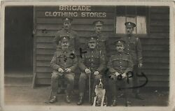 Ww1 Soldier Gunners Nco's Royal Field Artillery Brigade Clothing Stores Luton