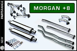 Morgan Plus 8 +8 Stainless Steel Exhaust System De-cat Sports Pipe