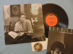 Lp Dave Lewis A Collection Of Short Dreams Uk 1978 +insert With Lyrics | M-