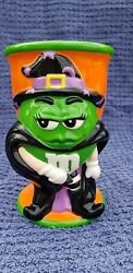 Mandm Halloween Witch Ceramic Goblet Cup - Green Limited Run