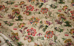 Clarence House French Chintz Floral Handprinted High-end Designer Fabric-6+yds
