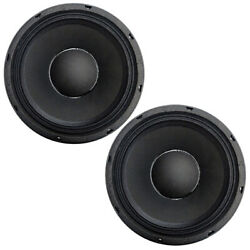 2 X Hyperpower 10 Inch High Output 400-watt Rms Midbass Speakers 10md86, Pair