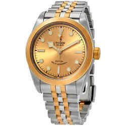 Tudor Black Bay 32 Automatic Champagne Dial Two-tone Yellow Gold Ladies Watch