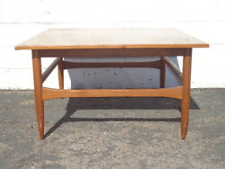 Mid Century Modern Coffee Wood Table Square Traditional Vintage Antique Accent