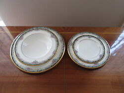 New Noritake Mi Amor 4717 4 Piece Place Setting With Soup Bowl Without Tags