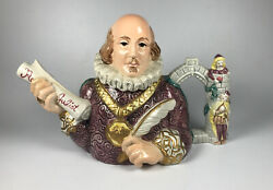 Vintage 1994 Limited Edition Fitz And Floyd William Shakespeare Teapot
