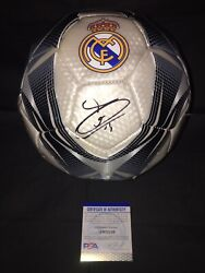 Thibaut Courtois Signed Official Real Madrid Soccer Ball Belgium Psa/dna
