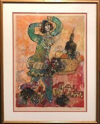 Theo Tobiasse Song Of Songs Limited Edition Color Lithograph Signed 181/200