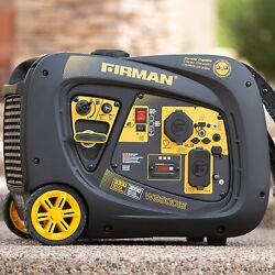 Firman 3300-w Quiet Portable Gas Powered Inverter Generator With Electric Start