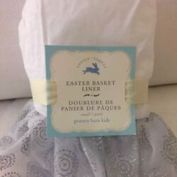 Nwt Pottery Barn Kids Glitter Easter Basket Liner Princess Silver Small
