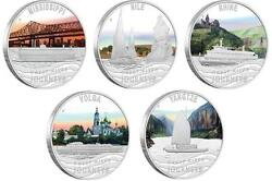 Tuvalu 2010 1х5 Great River Journeys 5 X 1 Oz Silver Proof Coin Set + Free Gift