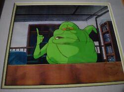 Original Hand Painted Animation Cel Ghostbusters With One Tooth Royal Animation