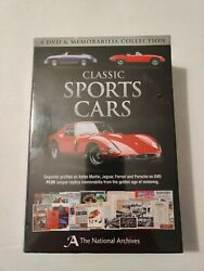 Classic Sports Cars 4 Dvd And Memorabilia Collection Gift Set Motoring Automobiles