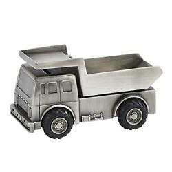 D Metal Gift Car Dump Track Toy Coin Jar For Adults Or Kids Silver Piggy Bank