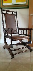 Antique Rocking Chair.jas Shoolbred And Co. Tottenham Ct Rd.royal Warrant Holders.