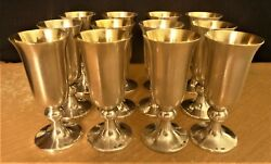 Vintage Soviet/russian Silver 916 Set Of 12 Vodka Cups 1974,1971 Years 523.3 G