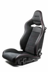 Sparco Spx Special Edition Black/red W/ Gloss Carbon Shell Left Side Seat