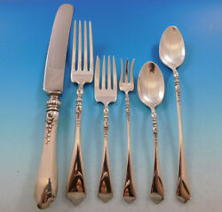 Nellie Custis By Lunt Sterling Silver Flatware Set Service 41 Pieces Dinner