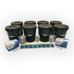 Hydroponic Deep Water Culture 8 Plant Bucket Grow System Kit Complete W Bubble