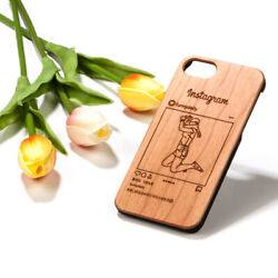 Handmade Personalized Instagram Photo Drawing Wood Phone Case Iphone Samsung
