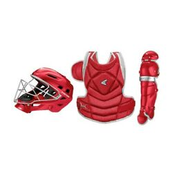 Easton The Fundamental By Jen Schro Red/silver Catchers Set Large Ages 15andup
