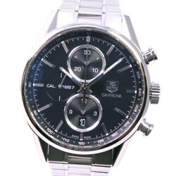 Tag Heuer Car2110.ba0724 Cal.1887 Carrera Watches Black Stainless Steel Me...