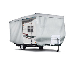 Ultimate Heavy Duty Travel Trailer Camper Cover Zipper Access Fits 10ft To 38ft
