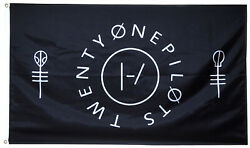 Twenty One Pilots Clique Flag Black 3x5ft banner $17.99