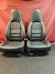 Porsche Boxster/996 Front Seats Pair -- New Oem German Factory Leather, Black